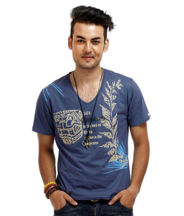 Chlorophile Blue Africano Organic Cotton T-Shirt