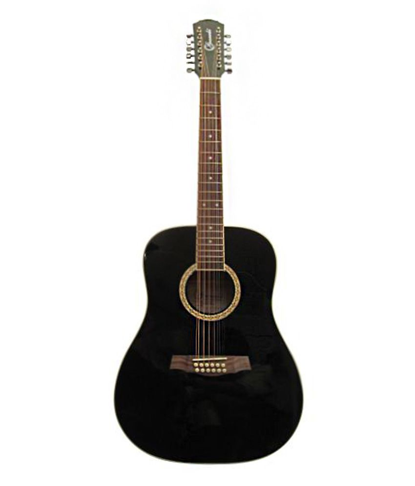givson 12 strings acoustic guitar black buy givson 12 strings acoustic guitar black online at. Black Bedroom Furniture Sets. Home Design Ideas
