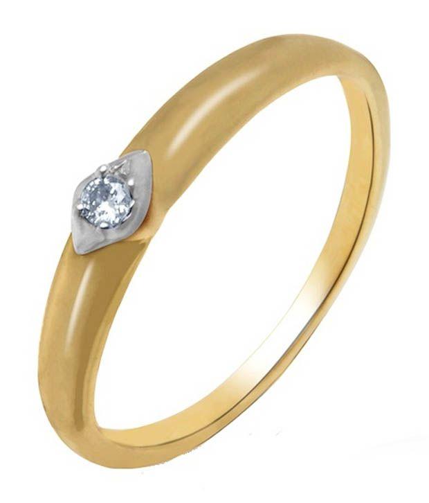 Aurik Diamond 14kt Gold Ring
