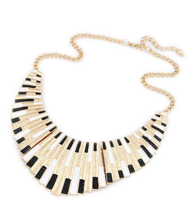 Cinderella Fashion Jewelry  Golden & Black Necklace