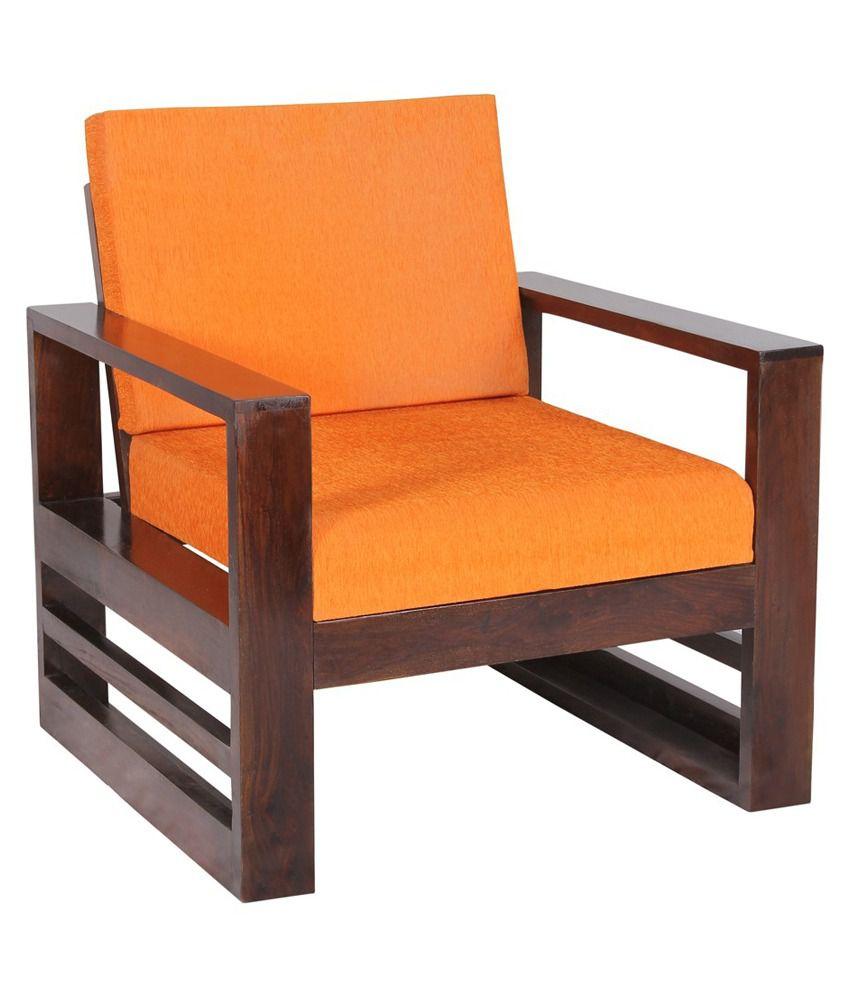 Sheesham Wood 4 Seater Sofa Set (2+1+1) with Coffee Table ...