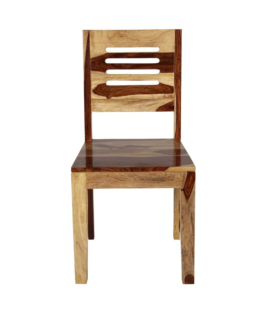 Sheesham Wood Dining Chair In Brown