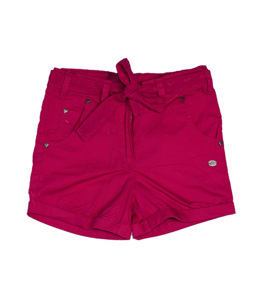 Fs Mini Klub Pink Cotton Shorts