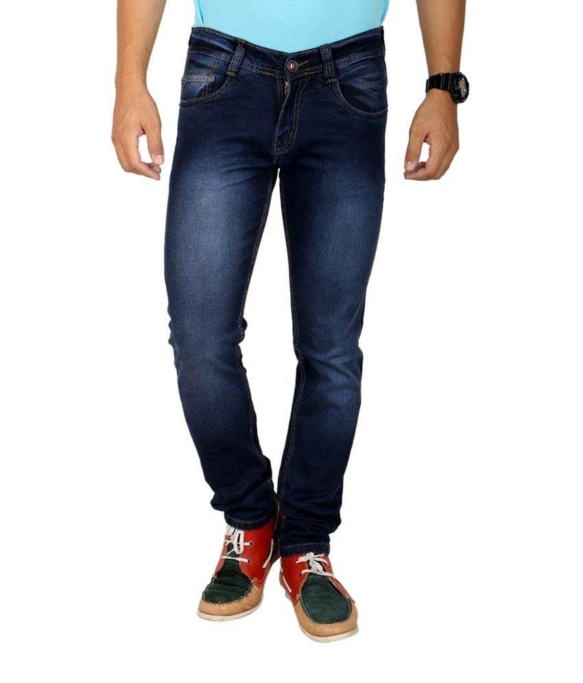 K'live Blue Cotton Regular Fit Jeans