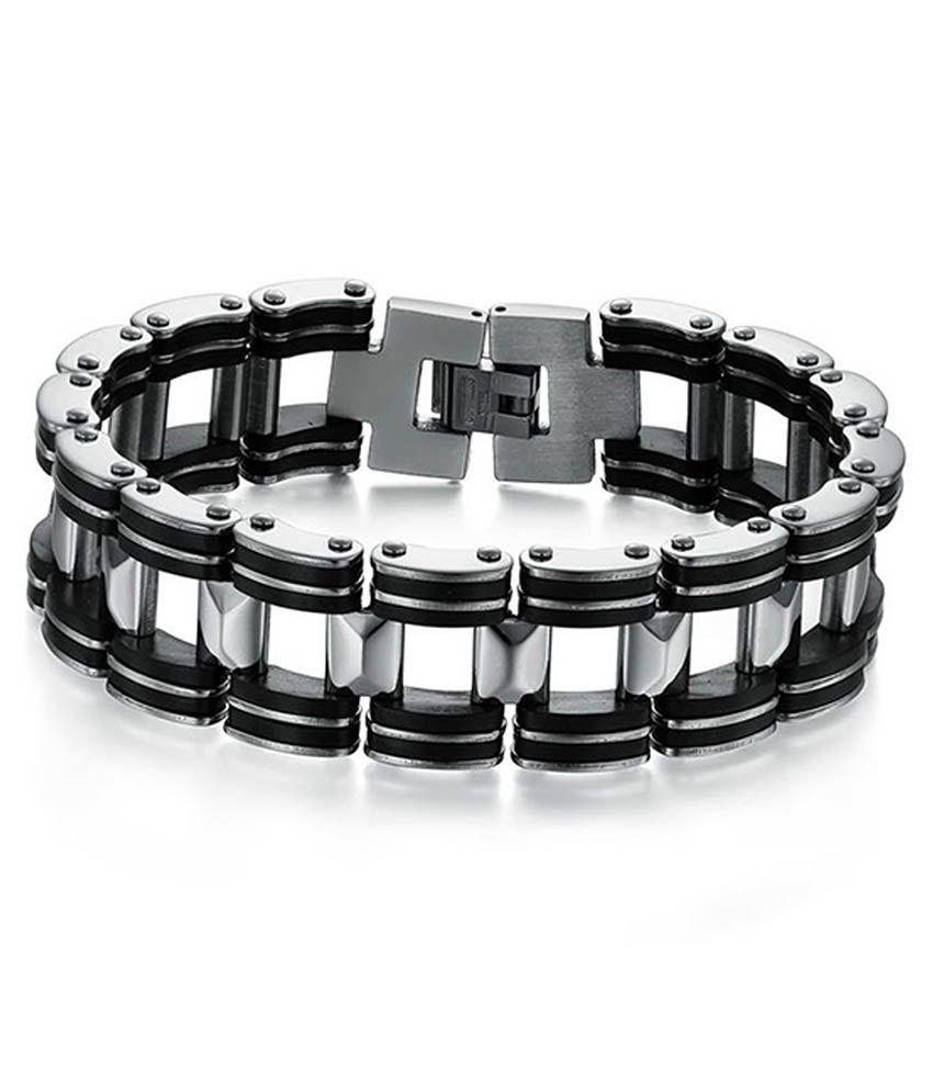 Kaizer Classic Retro Series Full Stainless Steel Men's Bracelet-04