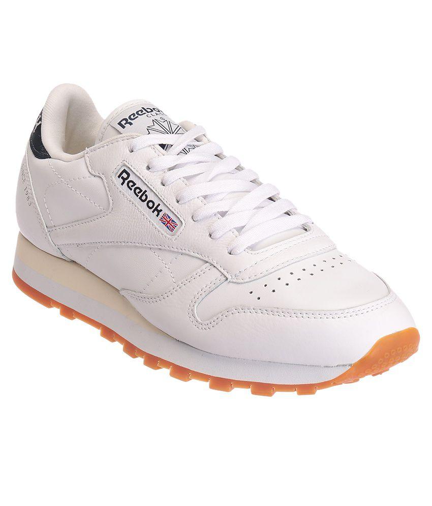 reebok cl lthr lp white sports shoes buy reebok cl lthr