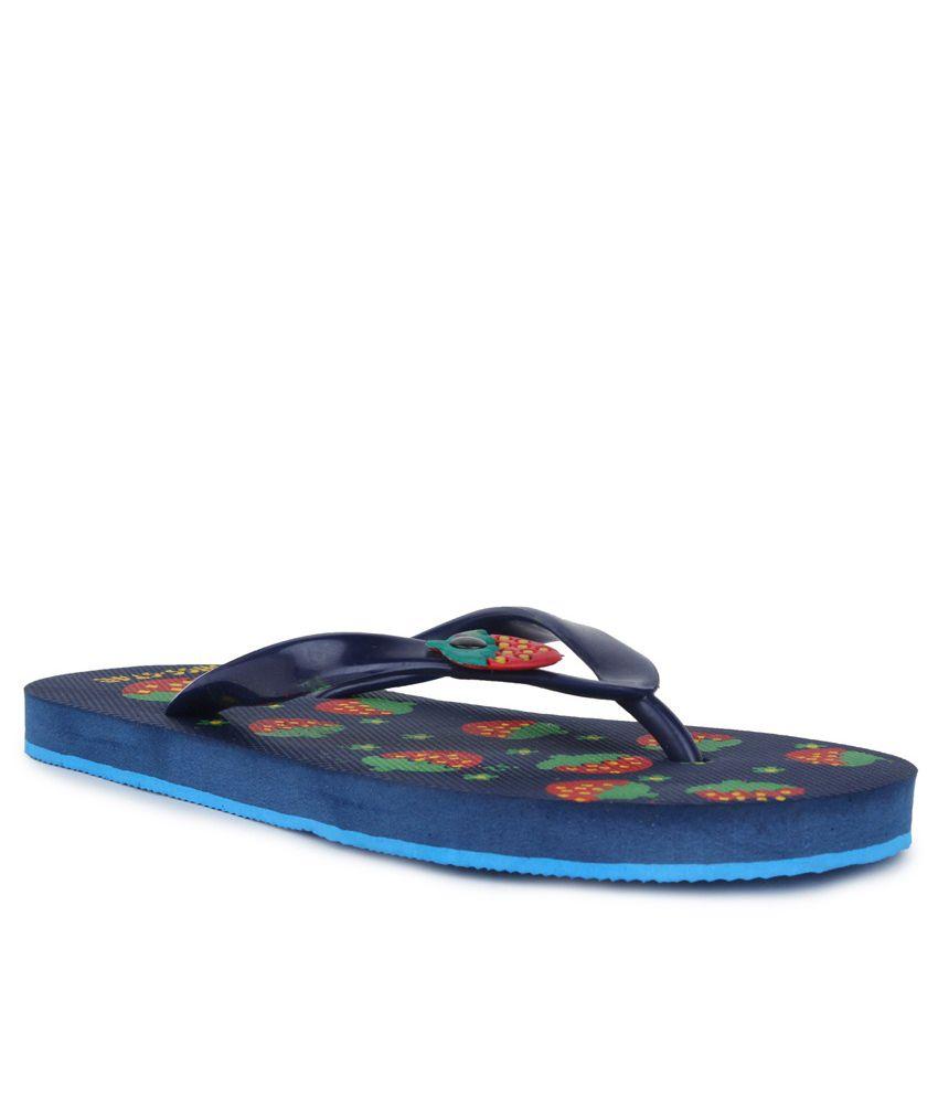 11E Blue & Green PVC Flip Flops