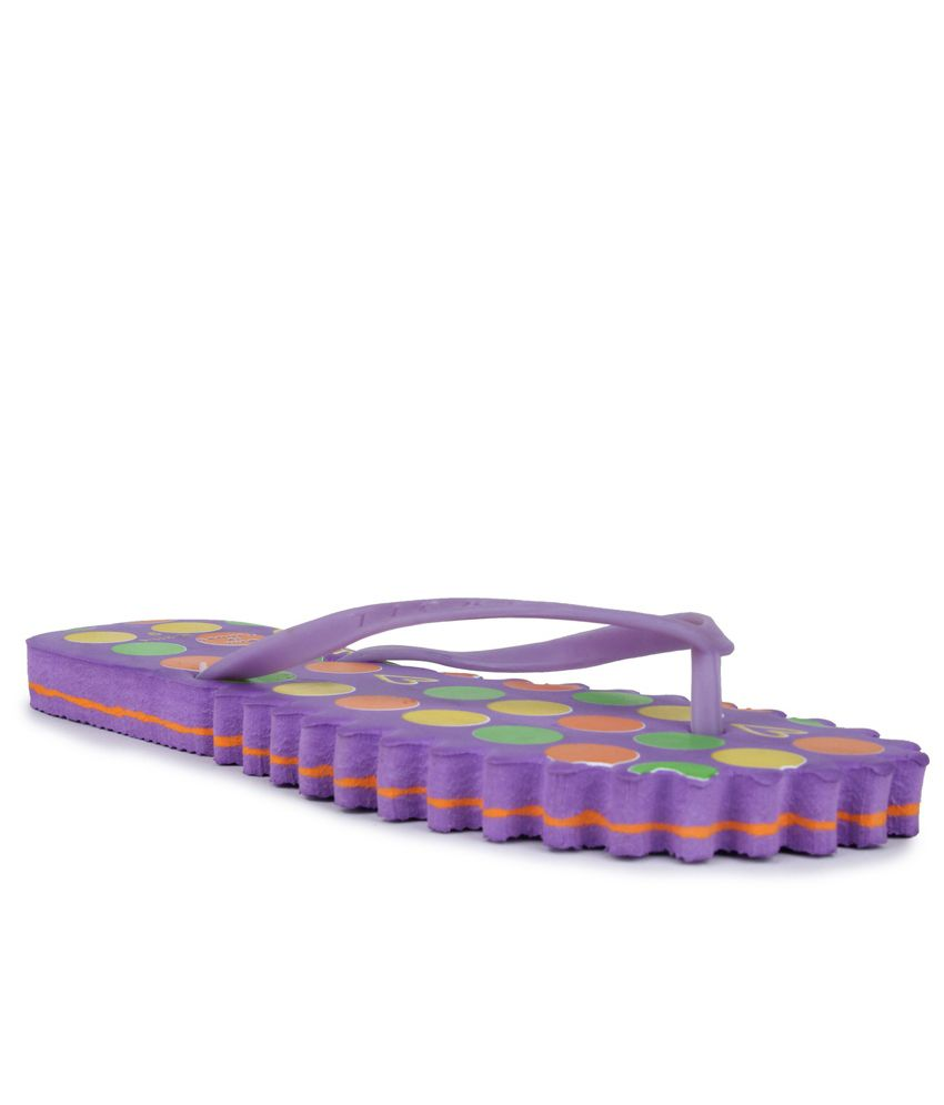 11E Purple PVC Flip Flops