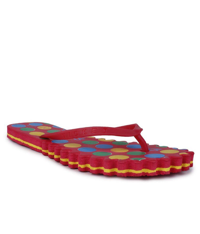 11E Red PVC Flip Flops