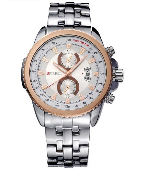 Curren Rose Gold Steel Planet Ocean Series Analog watch For Men