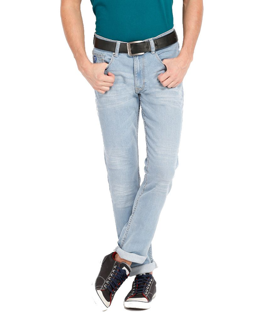 Locomotive Blue Cotton Blend Jeans