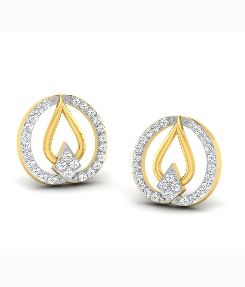His & Her Contemporary 18kt Gold Studs Earrings