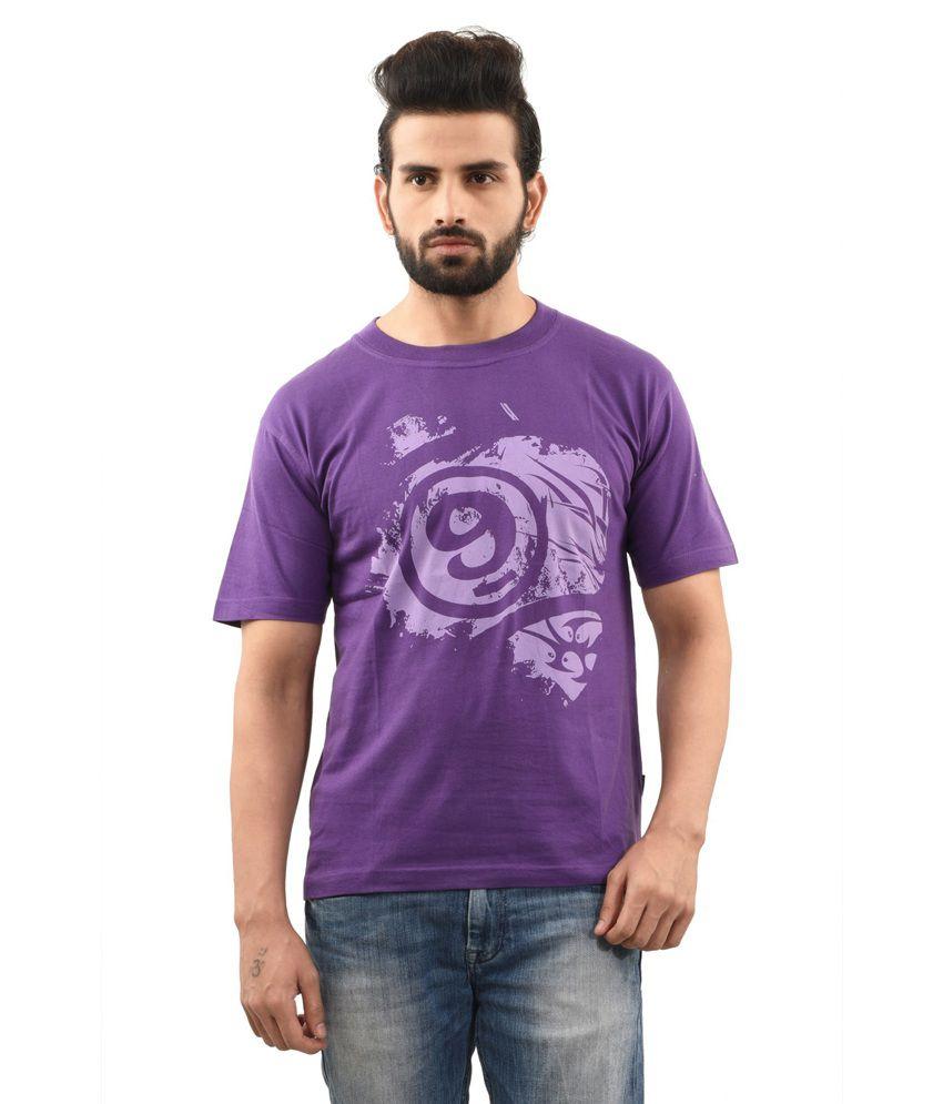 TSG Escape Purple Cotton Round Neck Half Sleeve Printed T-Shirt