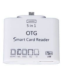 Storite 5 in 1 OTG USB 2.0 Micro Card Reader Connection for Android Mobile and Tab Version 4.2.2 - White
