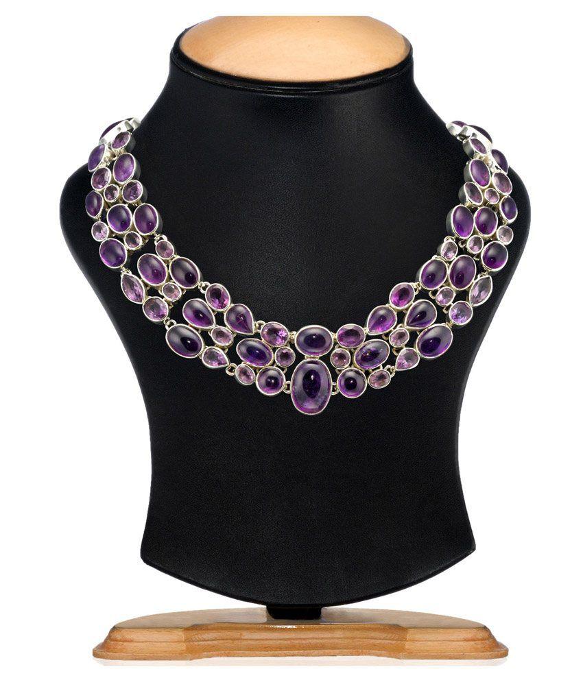 Aarohee Amethyst Stones Necklace