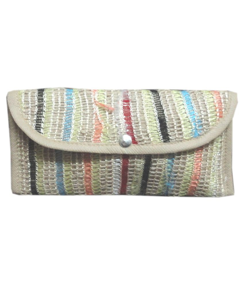 Cottage Accessories Beige Jute Casual Wallet