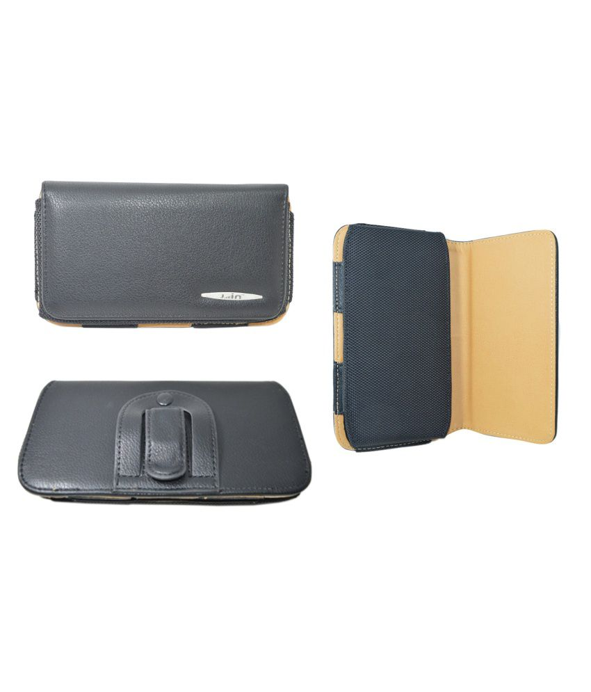 Indiacod Belt Pouch For LG Max Black