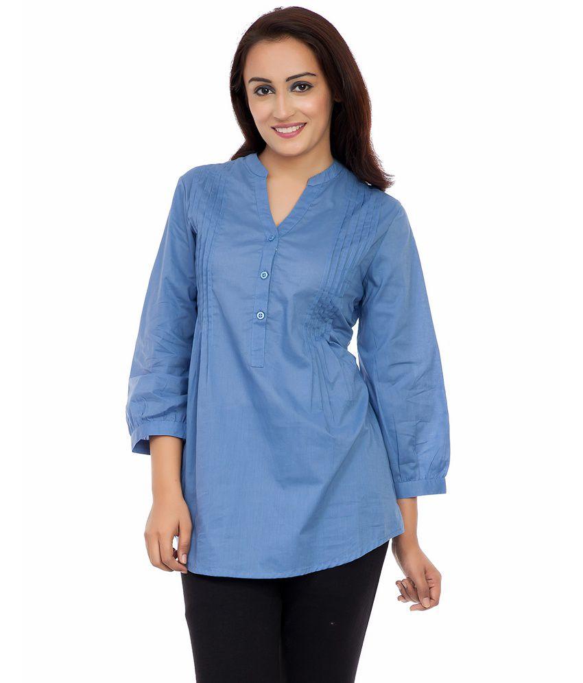 Deewa Blue Cotton Tunics