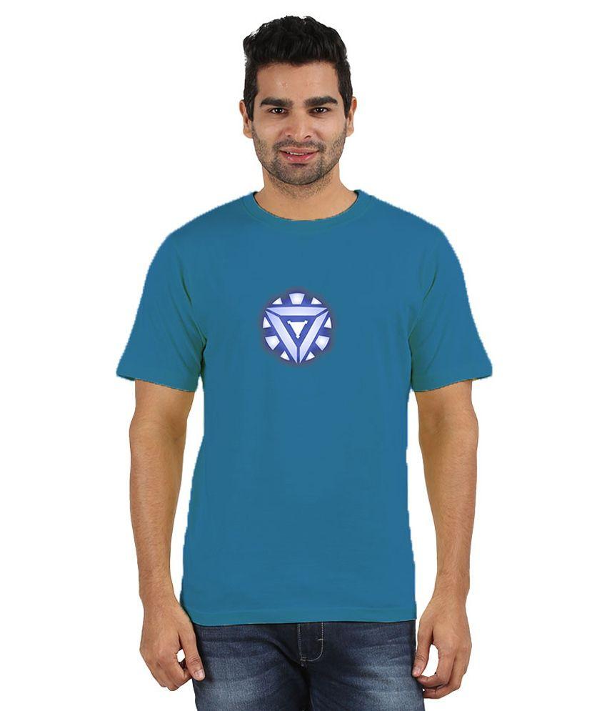 Doozy Shopping Blue Cotton T-Shirt