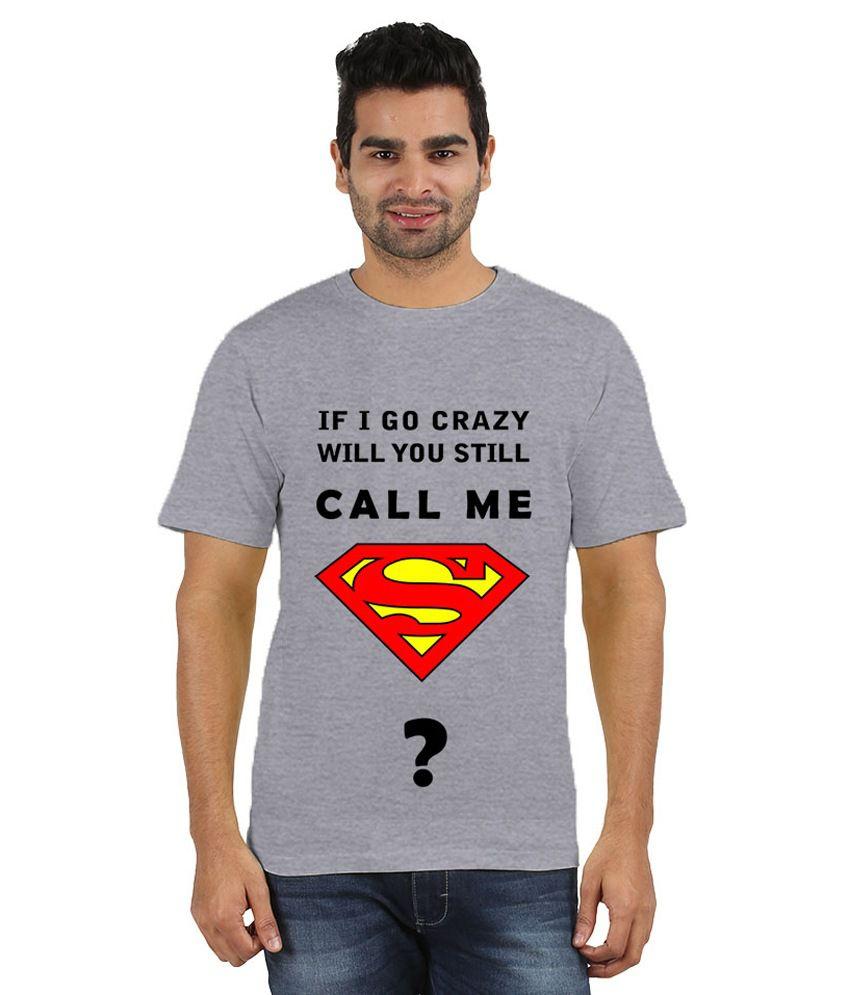 Doozy Shopping Grey Cotton T-Shirt