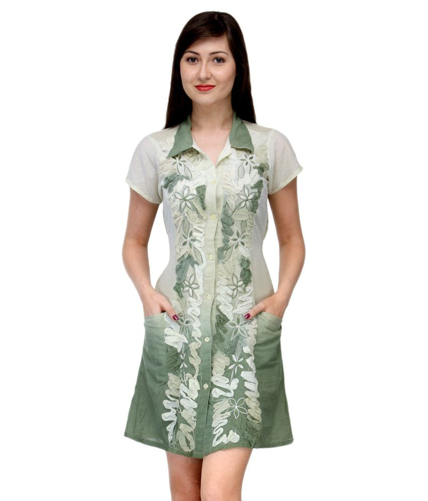 India Inc Green Cotton Tunics
