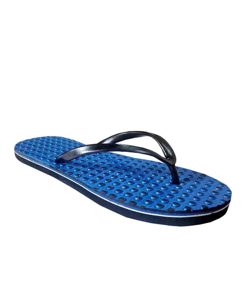 Unispeed Blue Accupressure Foot Relief Slippers
