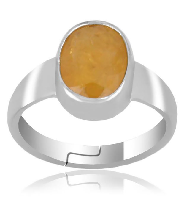 Barishh 3.25 Ratti Yellow Sapphire Ring in Sterling Silver