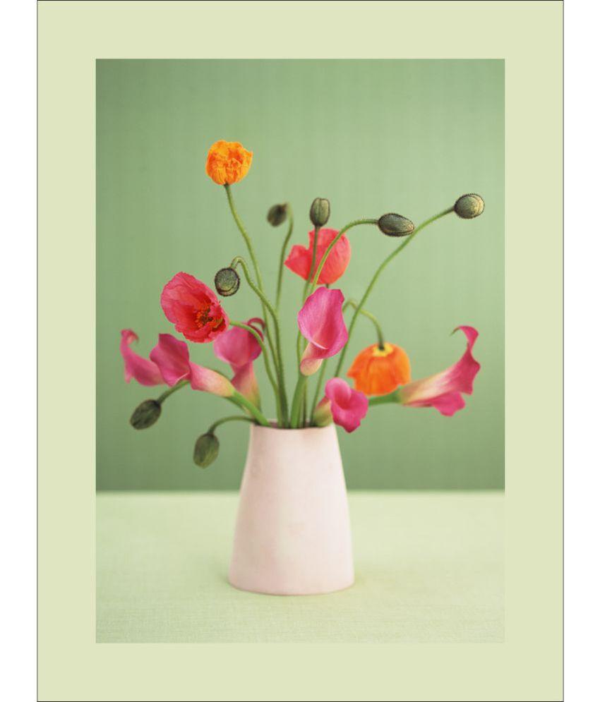 Retcomm Art Digital Print Wall Art Pink Flowers Floral Painting