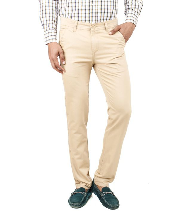 Uber Urban Beige Cotton Chinos