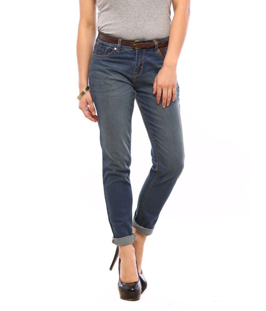 Vvoguish Blue Cotton Jeans