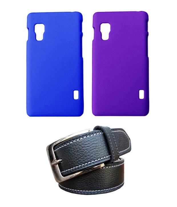 Winsome Deal Black Belt with 2 Back Cover Cases for LG L5(ii) E460