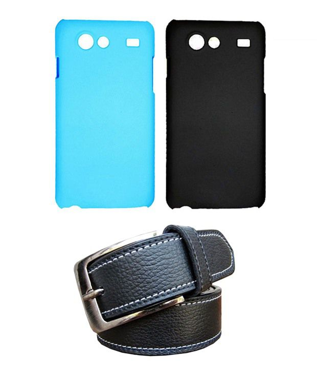 Winsome Deal Black Belt with 2 Back Cover Cases for Samsung Galaxy S Advance I9070
