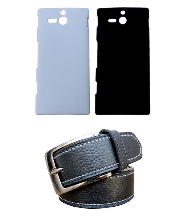Winsome Deal Black Belt with 2 Back Cover Cases for Sony Xperia U ST25I