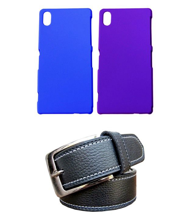 Winsome Deal Black Belt with 2 Back Cover Cases for Sony Xperia Z2