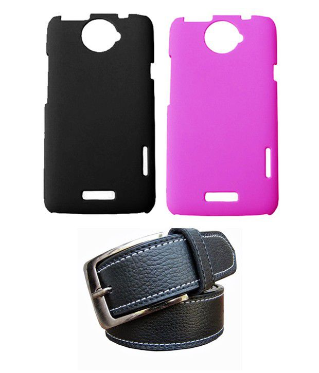 Winsome Deal Black Belt with 2 Back Cover Cases for HTC One X