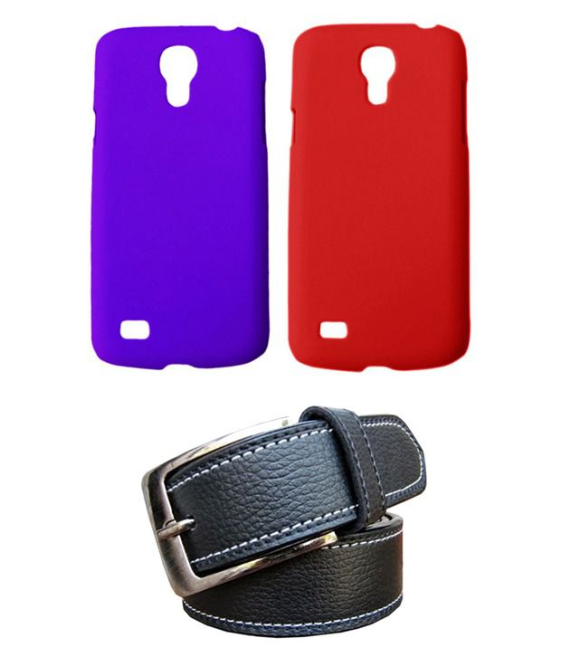 Winsome Deal Black Belt with 2 Back Cover Cases for Samsung Galaxy S4 Mini I9190