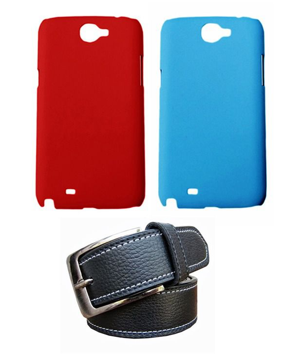 Winsome Deal Black Belt with 2 Back Cover Cases for Samsung Galaxy Note2 N7100