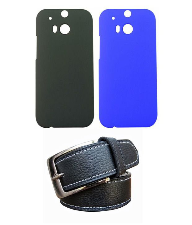 Winsome Deal Black Belt with 2 Back Cover Cases for HTC M8
