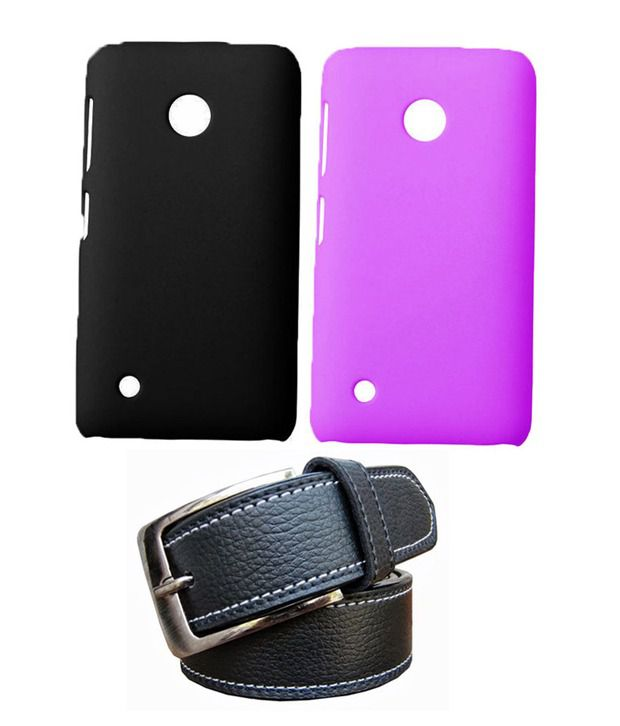 Winsome Deal Black Belt with 2 Back Cover Cases for Nokia Lumia 530