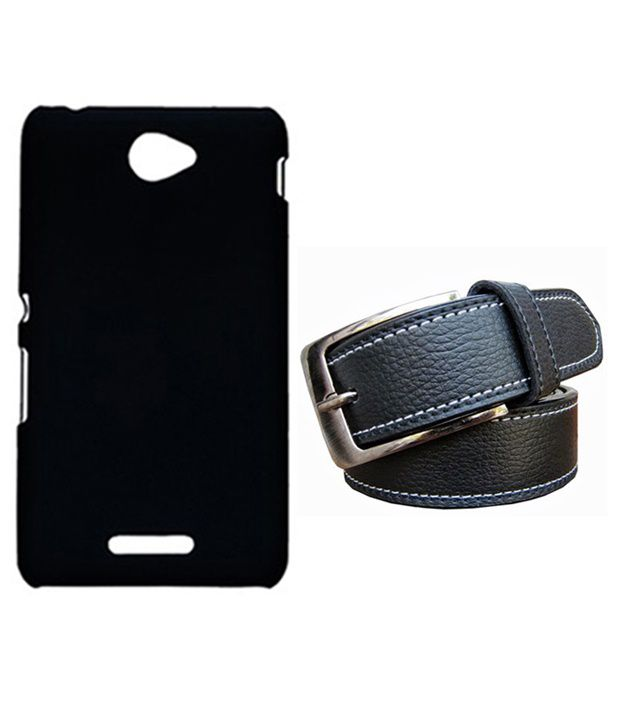 Winsome Deal Black Belt with Back Cover Case for Sony Xperia E4