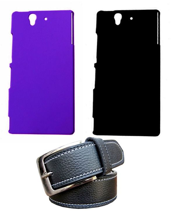 Winsome Deal Black Belt with 2 Back Cover Cases for Sony Xperia Z