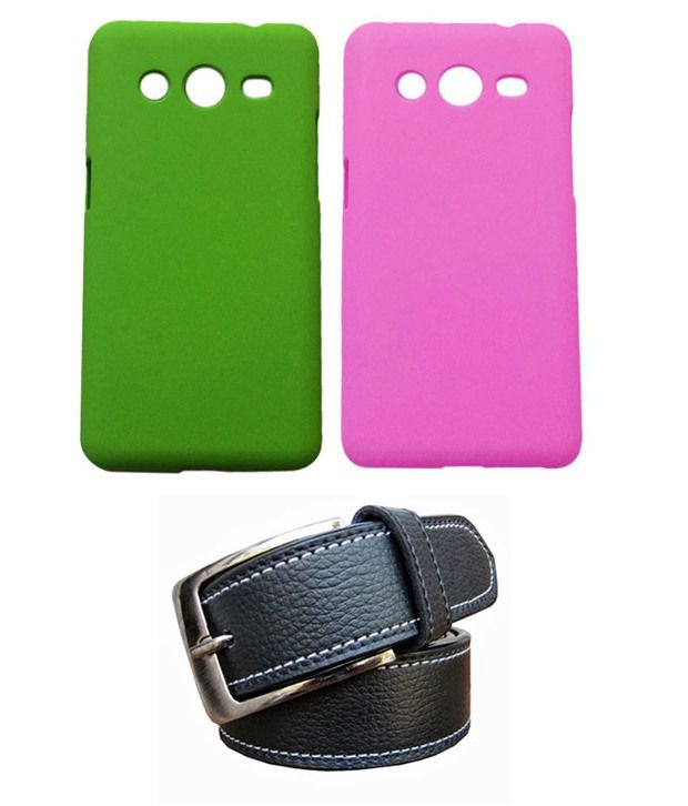 Winsome Deal Black Belt with 2 Back Cover Cases for Samsung G 335h