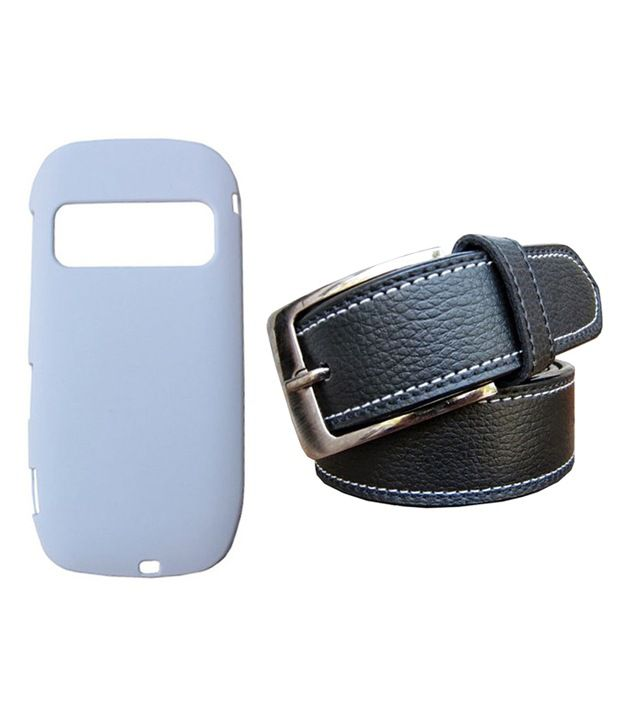 Winsome Deal Black Belt with Back Cover Case for Nokia C7
