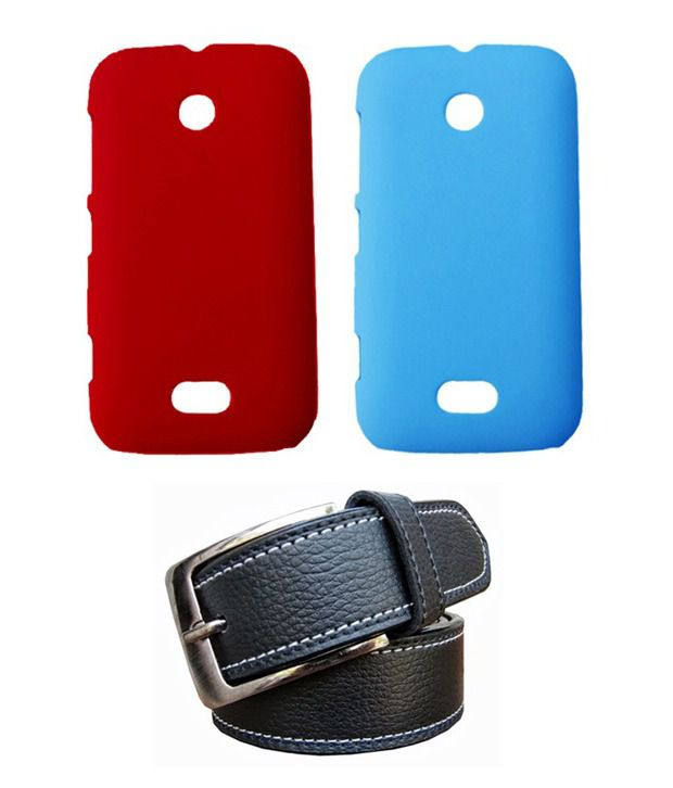 Winsome Deal Black Belt with 2 Back Cover Cases for Nokia Lumia 510