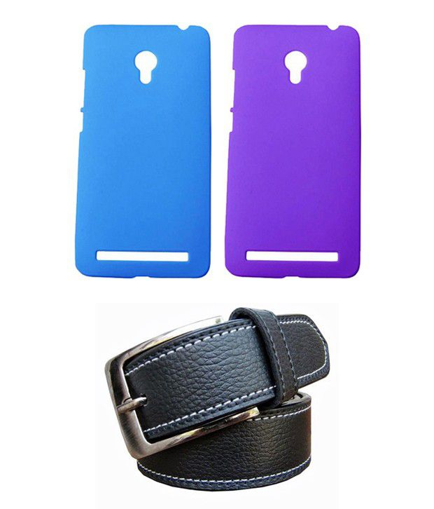 Winsome Deal Black Belt with 2 Back Cover Cases for Asus Zenfone 6 A600CG
