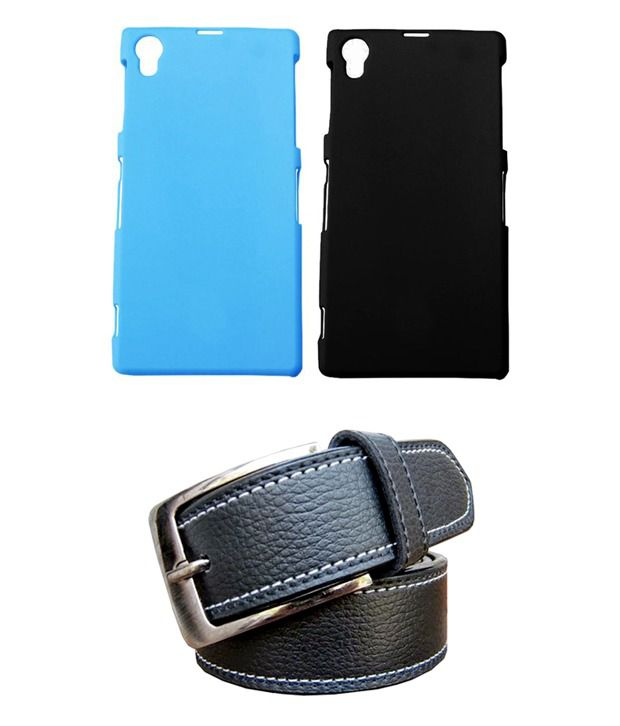 Winsome Deal Black Belt with 2 Back Cover Cases for Sony Xperia Z1