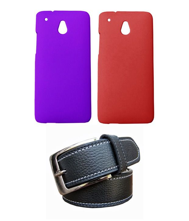 Winsome Deal Black Belt with 2 Back Cover Cases for HTC One Mini