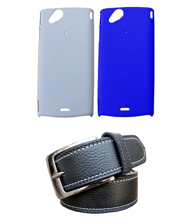 Winsome Deal Black Belt with 2 Back Cover Cases for Sony Xperia X12
