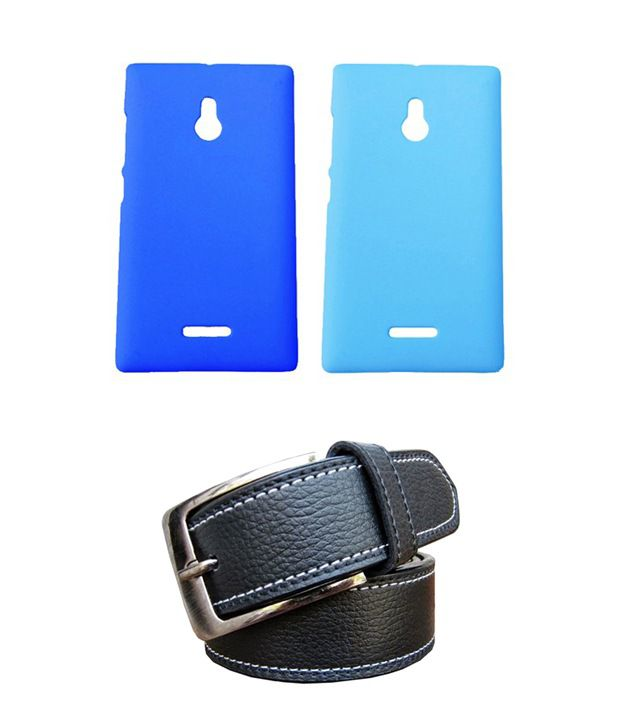 Winsome Deal Black Belt with 2 Back Cover Cases for Nokia XL