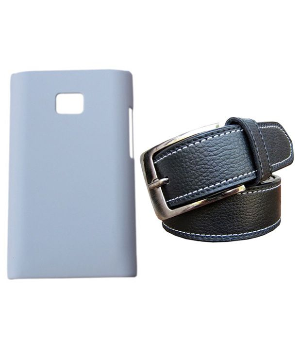 Winsome Deal Black Belt with Back Cover Case for LG L3 E400